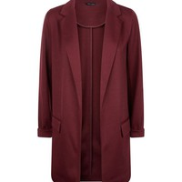 Burgundy Longline Blazer | New Look