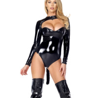 Feline Fetish Black Cat Costume