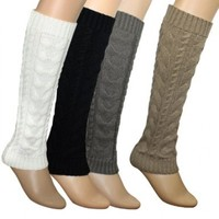 Dahlia Women's Cable Knit Leg Warmers