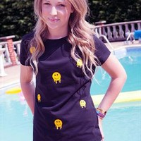 Smileys all day long tee from Lillies Of The Alley