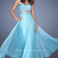 Strapless Beaded Formal Gown by La Femme