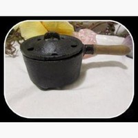 Cast Iron Cauldron Herb Incense Burner