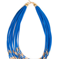 Amber Necklace - Blue