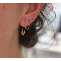 Catbird :: shop by category :: JEWELRY :: Earrings :: Gold Safety Pin Earring
