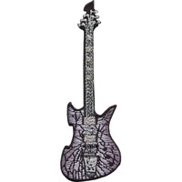 KISS Men's Starchild's Black Guitar Embroidered Patch White