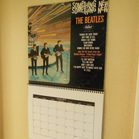 THE BEATLES 2013 Record Album Cover Wall Calendar (Something New)