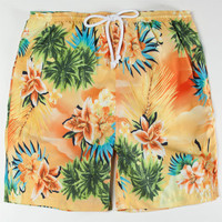 Wellen Paradise Mens Volley Boardshorts Yellow  In Sizes