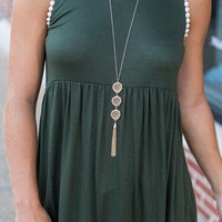 Love and Relaxation Tank, Forest Green