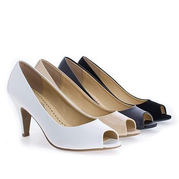Simon By Classified, Peep Toe Comfort Insole Classic Pumps