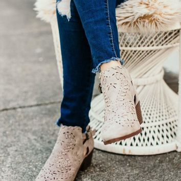 This Love I Found Grey Cut Out Detail Booties