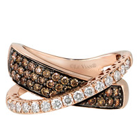 Jewelry & Accessories   Rings   14Kt. Rose Gold Chocolate & Vanilla Diamond Ring   Lord and Taylor