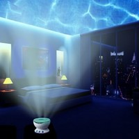 Ocean Wave Night Light Projector and Music Player. Romance and Relax Effect. Multicolor Led bulbs Or Single Color.Blue Red and Green