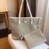 GUCCI Double G Printed Letter Women's Shopping Bag Tote Bag Two Piece Set