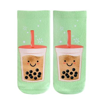 Boba Tea Ankle Socks