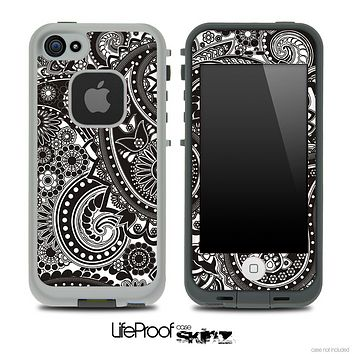 Paisley Seamless BW V3 Skin for the iPhone 5 or 4/4s LifeProof Case
