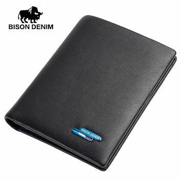 Genuine Leather Short Wallet Casual Men Wallet Purse Dollar Price Standard Card Holders Wallets For Men