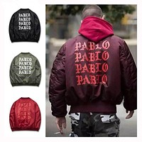 Yeezys Jackets I feel like Paul Pablo Kanye West The Life Of Pablo Kanye MA1 Bomber Ja