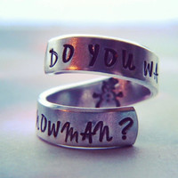 Do you want to build a snowman? aluminum swirl ring snowman inside