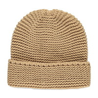 Textured Knit Fold-Over Beanie