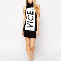 This Is A Love Song Vice. High Neck Bodycon Dress at asos.com