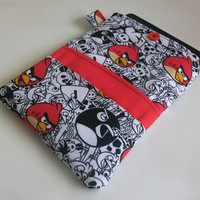 Angry Birds Kindle Cover / Gamer Nook Case / Tablet Sleeve