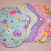 Five, 7 inch Washable Menstrual Pads CHOOSE YOUR PRINT