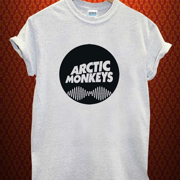 arctic monkey logo Music tee Ash Grey t Shirt Men and Women T Shirt more size available