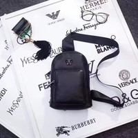 VERSACE MEN'S NEW STYLE LEATHER CHEST PACK BAG CROSS BODY BAG