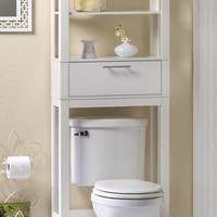 Vogue Bathroom 2 Shelf Space Saver White Storage Cabinet