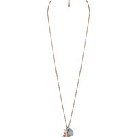 Bejeweled Frond Necklace