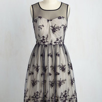 Cherished Charm Dress in Navy