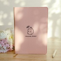 "Molang Diary Ver.3 Undated Planner Journal Scheduler Organizer Agenda Kawaii Cute Rabbit 4.5"" x 6.5"" - Authentic Korea item (Baby Pink)"