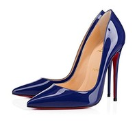 christian/louboutin New Women's Kate 120MM High Heel Banquet Shoes