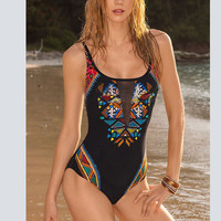 2016 New Retro One Piece Swimsuit Women Swimwear Female Bathing Suit Beachwear Monokini One Piece Swimsuit Women's Swimming Suit