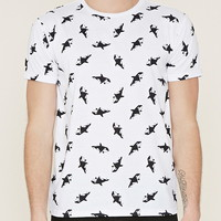 Cotton-Blend Orca Graphic Tee | 21 MEN - 2000153720