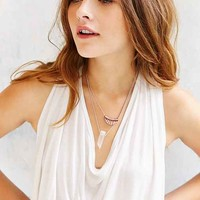 Crystal Crescent Double Layer Necklace