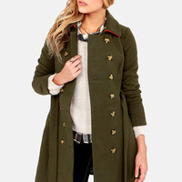 Lavand Falling For You Army Green Coat