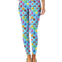 Romantic Emojis Leggings
