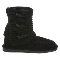 Womens Knit Tall by BEARPAW review color Solid Black