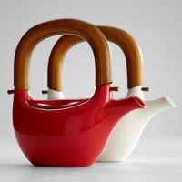 ceramic teapot with wooden handle from RedEnvelope.com