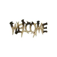 River's Edge Antler Welcome Plaque