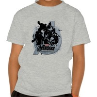 Avengers Age Of Ultron Silhouette Logo T Shirts