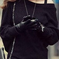 Women Batwing Sleeves Knitted long sweater Dress Knitwear cardigan Jumpers winter Mini Sexy Girl's Cashmere Casual Tops nz126