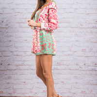 Summer Vibes Romper, Pink