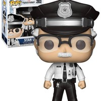 Exclusive FUNKO POP Official Captain America - Stan Lee Cameo Police Vinyl Action Figure Collectible Model Toy with Original Box
