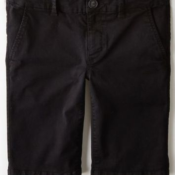 AEO Women's Skinny Bermuda Short (Black)