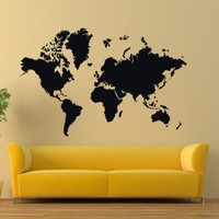 Vinyl Wall Decals World Map Country Quotes Decal Sticker Home Decor Art Mural Z616