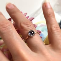 Rare Alexandrite ring, 9ct solid gold Alexandrite ring, Engagement ring, Purple Blue stone ring, Crown Setting 9ct gold and silver ring