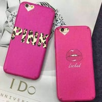 Pink Lip Cover Case for iPhone 5s 5se 6 6s Plus Gift + Gift Box 338