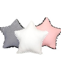 Creative Cloud Star Seat Chair Cushion with Little Furball Sofa Bedding Gift Pillow Baby Room Decor Pillow New Year Present